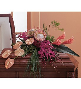 Tropical Paradise Casket Spray in Oklahoma City OK, Array of Flowers & Gifts
