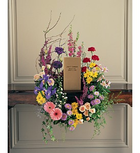 Cremation Urn Wreath in Oklahoma City OK, Array of Flowers & Gifts