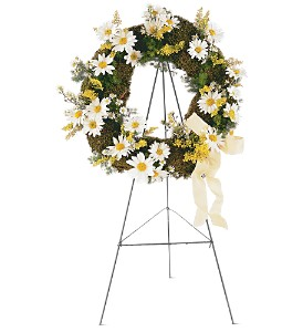 Drop of Sunshine Wreath in Abington MA, The Hutcheon's Flower Co, Inc.