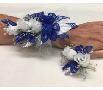 Wrist Corsage and Boutonniere Prom Homecoming in Titusville FL, Floral Creations By Dawn