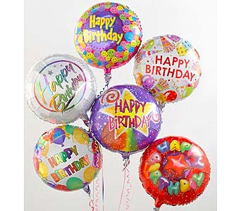 8 Happy Brithday Balloons in Palm Desert CA, Milan's Flowers & Gifts