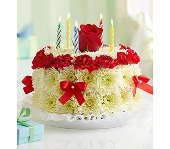 Birthday Flower Cake Bright in Palm Desert CA, Milan's Flowers & Gifts