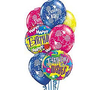 Birthday Wishes Theme Balloon Bouquet in Lawrence KS, Englewood Florist