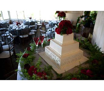 Reception in West Los Angeles CA, Westwood Flower Garden