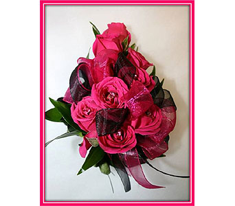 Hot Pink Spray Rose Corsage in Hudson NH, Anne's Florals & Gifts