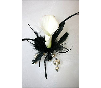 Mini Calla Lily Corsage in Hudson NH, Anne's Florals & Gifts