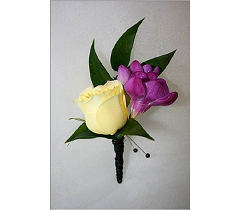 Spray Roses with Freesia Boutonniere in Hudson NH, Anne's Florals & Gifts