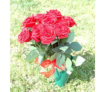 Qt. Cemetery Can w/pick to secure in ground ( roses sold seperately ) in Northfield MN, Forget-Me-Not Florist