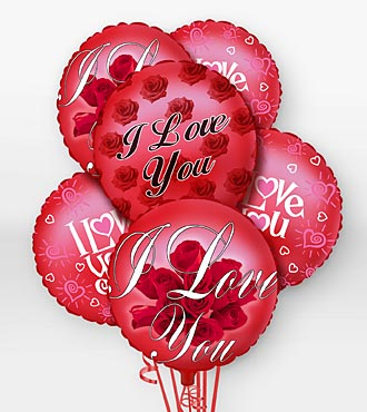 I Love You Balloon Bouquet in Chicago IL, Yera's Lake View Florist
