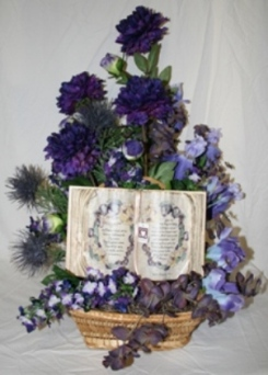 Large silk arrangement with inspirational book in Lebanon OH, Aretz Designs Uniquely Yours
