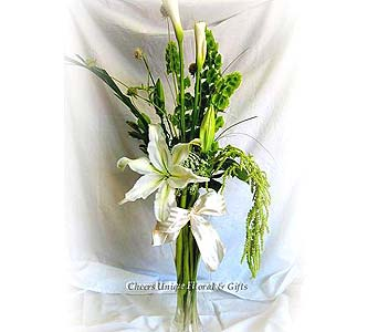 White and Green in Lake Forest CA, Cheers Floral Creations