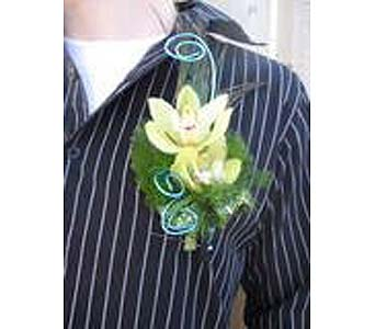 Cymbidium Orchid Boutonniere in Saskatoon SK, Carriage House Florists