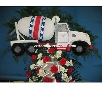 Cement Truck in Jersey City NJ, Entenmann's Florist