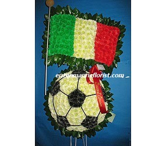 Soccer Ball w/ Italian Flag in Jersey City NJ, Entenmann's Florist