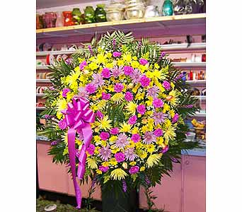 Vibrant Love Standing Wreath in Port Chester NY, Port Chester Florist
