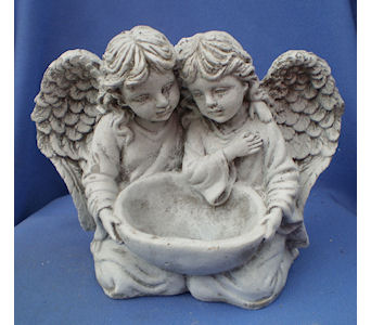 Angels with bowl in Dover OH, Baker Florist, LLC