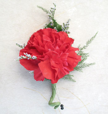 Single Carnation Boutonniere (Metro-Detroit Only) in Southfield MI, Thrifty Florist