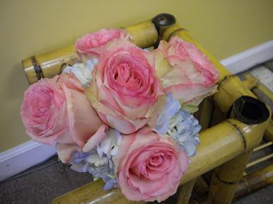 pink and blue bouquet in Bensenville IL, The Village Flower Shop