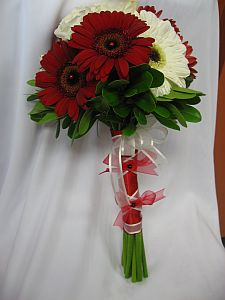 Red and White BM Bouquet in Guelph ON, Patti's Flower Boutique