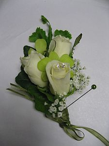 White Corsage in Guelph ON, Patti's Flower Boutique