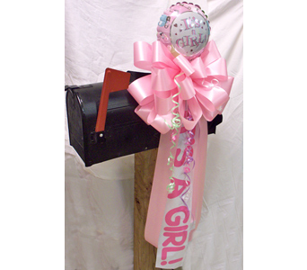 Its a Girl! Mailbox Bow in Nashville TN, The Bellevue Florist