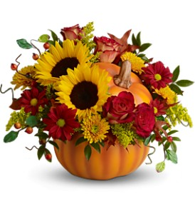 Teleflora's Pretty Pumpkin Bouquet - Deluxe in State College PA, Woodrings Floral Gardens