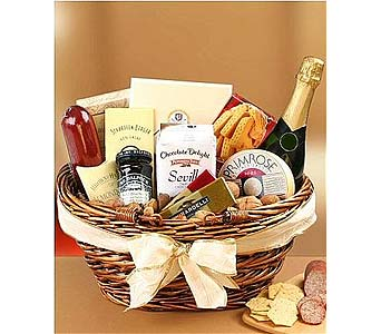 Gourmet Champagne Basket in Palm Desert CA, Milan's Flowers & Gifts