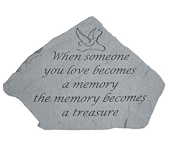 Memory Stone With Dove in Crafton PA, Sisters Floral Designs