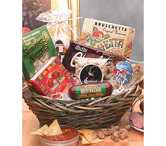 CLASSIC SNACK GIFT BASKET in Glendale AZ, Blooming Bouquets
