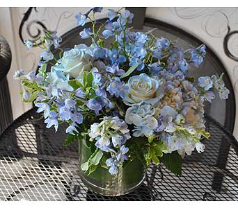 December BLUE TOPAZ Gemstone Bouquet in Massapequa Park NY, Bayview Florist & Montage  1-800-800-7304