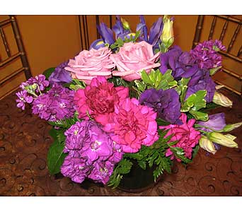 February AMETHYST Gemstone Bouquet in Massapequa Park NY, Bayview Florist & Montage  1-800-800-7304