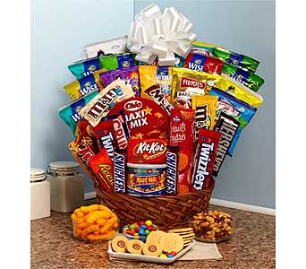 Super Sweet Snack Gift Basket in Bradenton FL, Ms. Scarlett's Flowers & Gifts