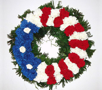 Flag Wreath in Blue Springs MO, Village Gardens