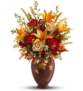 Teleflora's Falling Leaves Vase Bouquet in Commerce Twp. MI, Bella Rose Flower Market