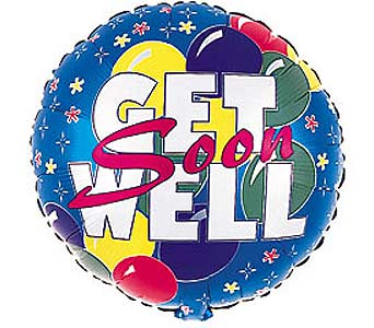 18 GET WELL MYLAR BALLOON in Manhasset NY, Town & Country Flowers