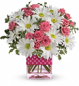Teleflora's Polka Dots and Posies in Modesto, Riverbank & Salida CA, Rose Garden Florist