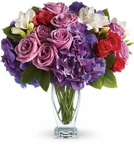 Teleflora's Rhapsody in Purple in Houston TX, Simply Beautiful Flowers & Events
