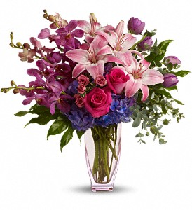 Teleflora's Purple Perfection in Dubuque IA, New White Florist