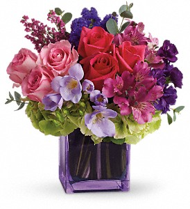 Exquisite Beauty by Teleflora in Lewiston ME, Val's Flower Boutique, Inc.