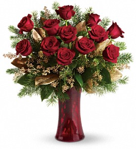 A Christmas Dozen in New York NY, Fellan Florists Floral Galleria