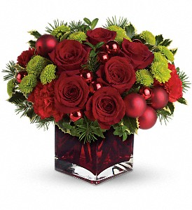 Teleflora's Merry & Bright in Dubuque IA, New White Florist
