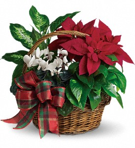 Holiday Homecoming Basket in Herndon VA, Bundle of Roses