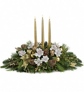Royal Christmas Centerpiece in Martinsburg WV, Bells And Bows Florist & Gift