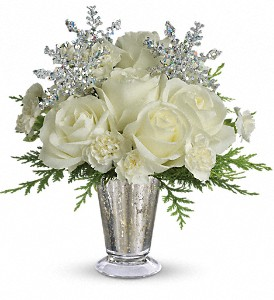 Teleflora's Winter Glow in Dubuque IA, New White Florist