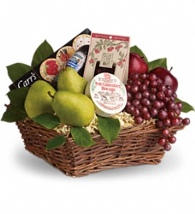 Delicious Delights Basket in Stratford CT, Phyl's Flowers & Fruit Baskets