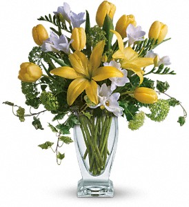 Teleflora's Spring Rhapsody in Dubuque IA, New White Florist