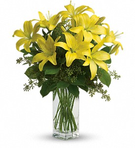 Teleflora's Lily Sunshine in Spring TX, A Yellow Rose Floral Boutique