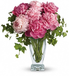 Teleflora's Perfect Peonies in Dubuque IA, New White Florist
