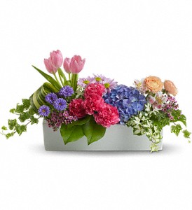 Garden Party Centerpiece in Huntington IN, Town & Country Flowers & Gifts