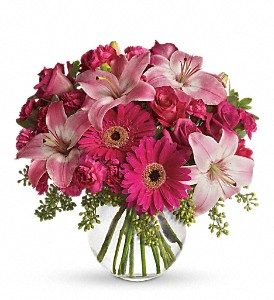 A Little Pink Me Up in Riverhead NY, Homeside Florist & Greenhouses, Inc.